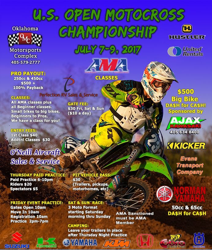 US Open Motocross Championships @ OKlahoma Motorsports Complex