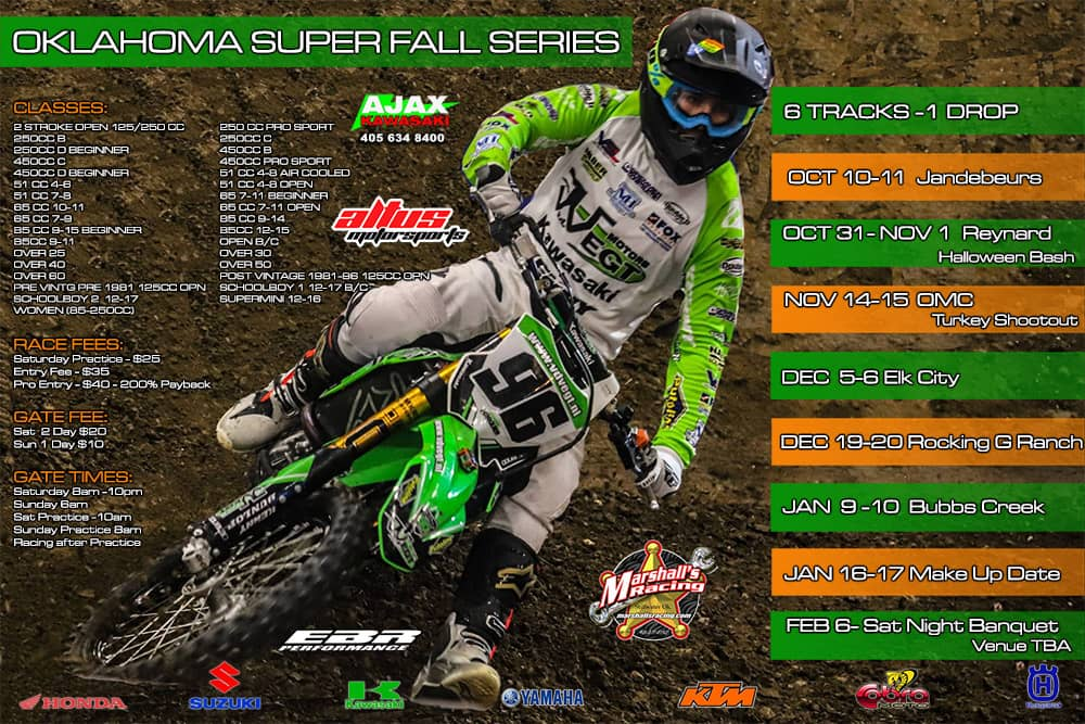 oklahoma super fall series flyer 2020