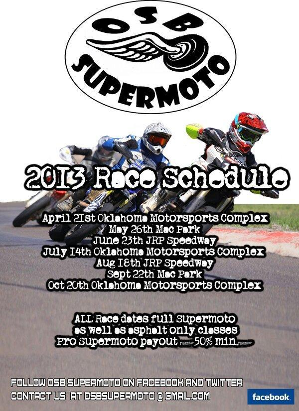OSB Supermoto Round 1 @ OMC April 21st